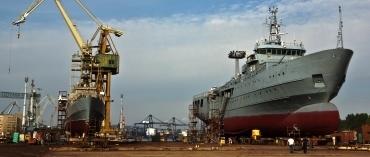 Shipyard works